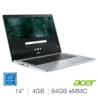 Acer Chromebook, Intel Celeron, 4GB RAM, 64GB eMMC, 14 Inch Laptop, CB314-1H