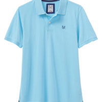New Crew Clothing Mens Melbury Polo Shirt in Turquoise Size XS
