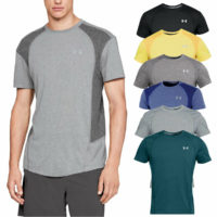 Under Armour Mens Run Graphic SS Moisture Wicking Training T-Shirt Top