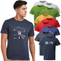 Craghoppers Mens Nelson Short Sleeve Graphic Jersey T Shirt