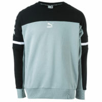 Mens Puma Xtg Crew Sweatshirt In Black Grey- Puma's �Cross Training Group�
