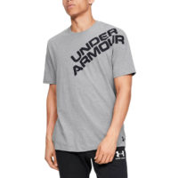 Under Armour Mens Wordmark Shoulder SS Wicking Quick Dry T-Shirt 37% OFF RRP