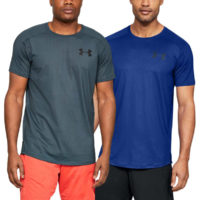Under Armour Mens Mk1 Short Sleeve Emboss Wicking HeatGear® T-Shirt