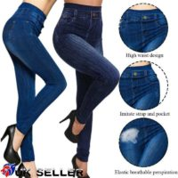 Womens High Waisted Stretchy Skinny Jeans Ladies Denim Jeggings Pants Size 6-18