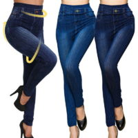 Womens High Waist Skinny Jeans Pants Wash Denim Trousers 6-18 UK Ladies Jeggings