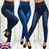 Womens High Waist Skinny Jeans Ladies Jeggings Wash Denim Trousers Pants YAN UK