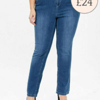 Ex EVANS Mid Wash Straight Leg Jeans Sizes 14-32 *SHORT/ REGULAR/ LONG *RRP £24