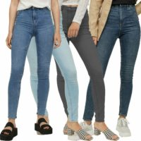 New Ladies Ex H&M Denim Soft Super Stretchy Comfortable Skinny Jeans Trousers