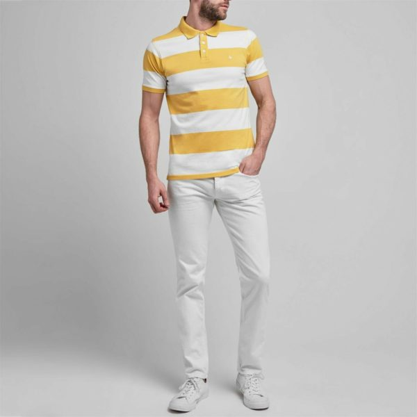 Jack Wills Mens Canley Stripe Polo Shirt Classic Fit Button Placket New