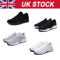Mens Womens Gym Sports Shoes Running Trainers Lace Up Casual Pumps Sneakers New