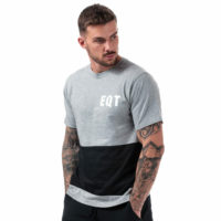 Mens adidas Originals Eqt Graphic T-Shirt In Medium Grey Heather