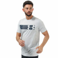 Mens Under Armour Raid Ss Graphic T-Shirt In Light Grey