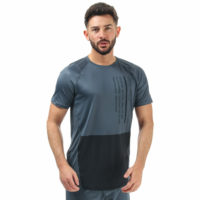Mens Under Armour Mk-1 Colourblock T-Shirt In Grey- Heatgear Fabric Wicks Sweat