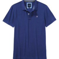 New Crew Clothing Mens Classic Pique Polo Shirt in Bright Navy Marl Size XS
