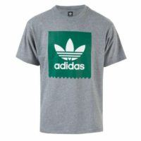 Men's adidas Originals Solid BB Crew Neck Short Sleeve Cotton T-Shirt in Grey