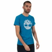 Men's Timberland Brand Tree T-Shirt in Blue