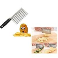POTATO FRENCH FRY CUTTER CHOPPER STAINLESS STEEL KITCHEN WAVE CHIPPER