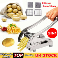 POTATO CHIPPER FRENCH FRIES SLICER CHIP CUTTER CHOPPER MAKER BLADES STEEL TOOLS