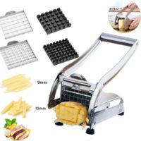 Stainless Steel Potato Chipper Cutter Blades Chopper Slicer French Fries Chip UK