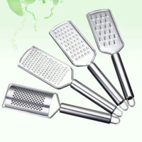 Stainless Steel Cheese Grater With Handle Garlic Potato Cook Chef Ginger Carrot