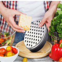 Kitchen Stainless Steel Cheese Grater with Container Storing Fruits Cheese Box