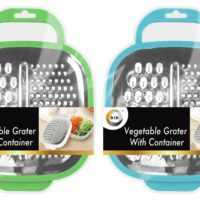 Cheese FOOD GRATER WITH CONTAINER Vegetable Carrot Shredder Various Colours