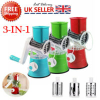 Rotary Cheese Grater Hand Crank Stainless Steel Vege Food Chopper Shredder!