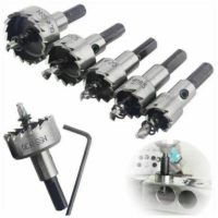 5Pc Hole Saw Tooth Kit HSS Steel Drill Bit Set Cutter Tool for Metal Wood Alloy