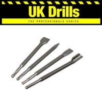 SDS + PLUS CHISEL - MOIL POINT, NARROW, GOUGE AND WIDE CHISELS - LOWEST PRICES