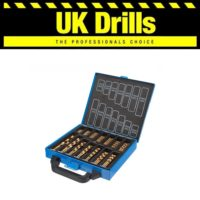 HSS METAL DRILL BIT SETS - 19pc 21pc 25pc 29pc 41p 50pc 99pc 170piece COBALT/TIN