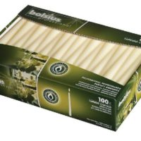 Bolsius Tapered Ivory Dinner Candles - 10 Inch - 100 Pack