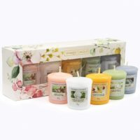 Yankee Candle Gift Set with 5 Votive Sampler Scented Candle Garden Hideaway NEW