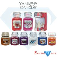Yankee Luxury Glass Jar Candles Home Fragrance Gift & Candle Burner - LARGE JARS