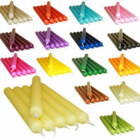 COLOURFUL DINNER CANDLES FOR CHEAP PRICE - MANY COLOURS PACK OF 10