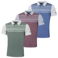 Puma Golf Mens Crossings Crest DryCELL Fusion Yarn Polo Shirt 47% OFF RRP