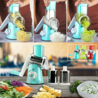 3 In1 Vegetable Food Slicer Chopper Cheese Grater Fruit Cutter Stainless Steel